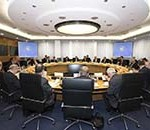 ECB Governing Council Meeting Photo