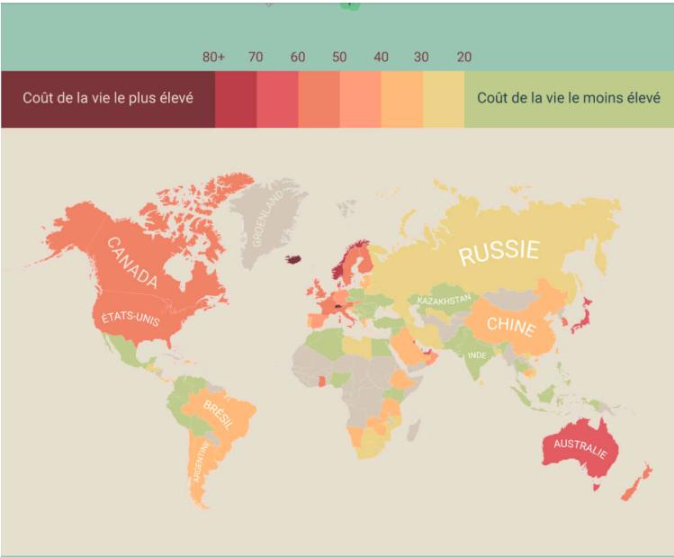 Infographie du mois le tour du monde du co t de la vie for Dans quel pays se trouve singapour